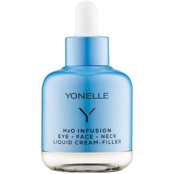 Yonelle H2O Infusion crema liquida antirughe effetto rapido per contorno occhi, viso e collo Anti – Smog (Vit D3 Concept) 50 ml
