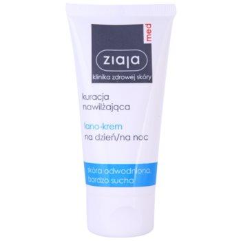Ziaja Med Hydrating Care crema nutriente rigenerante per pelli disidratate e molto secche (Lano-Cream) 50 ml