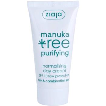 Ziaja Manuka Tree Purifying crema giorno per pelli miste e grasse SPF 10 50 ml