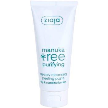 Ziaja Manuka Tree Purifying pasta detergente esfoliante per pelli normali e grasse (Deeply Cleansing Peeling Paste) 75 ml