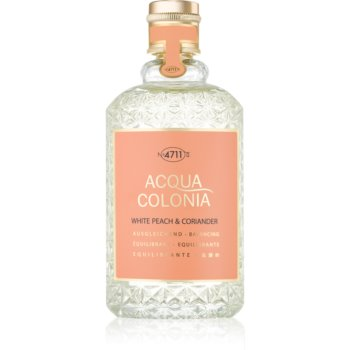 4711 Acqua Colonia White Peach & Coriander eau de cologne unisex 170 ml