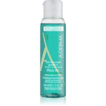 A-Derma Phys-AC gel spumant de curatare pentru ten acneic  100 ml
