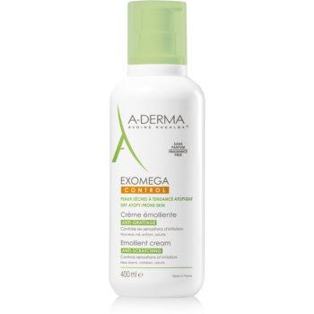 A-Derma Exomega Cremă corp cu efect de emoliere pentru piele foarte sensibila sau cu dermatita atopica  400 ml