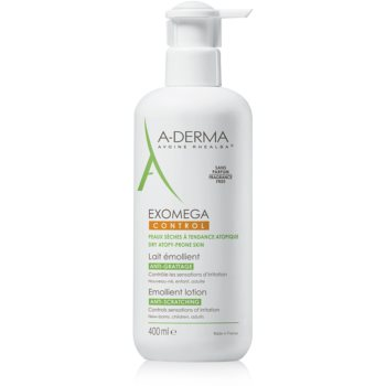 A-Derma Exomega lotiune hidratanta pentru corp pentru piele foarte sensibila sau cu dermatita atopica  400 ml