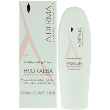 A-Derma Hydralba vlažilna krema za suho kožo 1