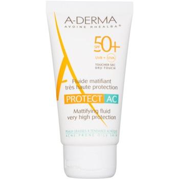 A-Derma Protect AC fluid matifiant SPF 50+  40 ml
