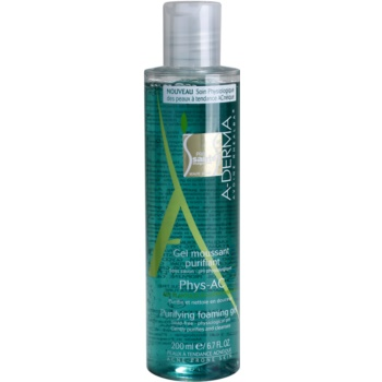 A-Derma Phys-AC gel spumant de curatare pentru ten acneic  200 ml