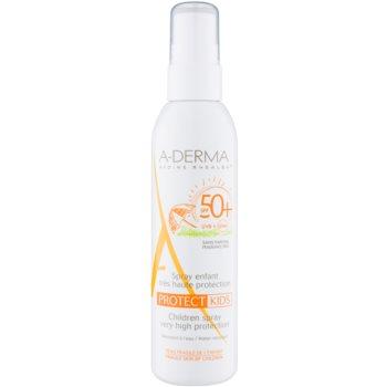 A-Derma Protect Kids spray pentru protecție solară SPF 50+ pentru copii  200 ml