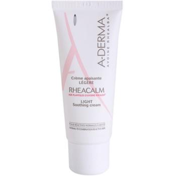 A-Derma Rheacalm заспокоюючий крем для нормальної та змішаної шкіри