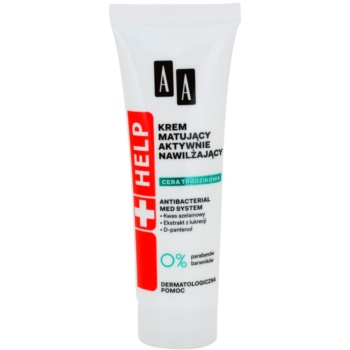 AA Cosmetics Help Acne Skin crema de matifiere cu efect de hidratare crema de matifiere cu efect de hidratare  40 ml