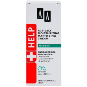 AA Cosmetics Help Acne Skin mattierende Creme mit feuchtigkeitsspendender Wirkung 2