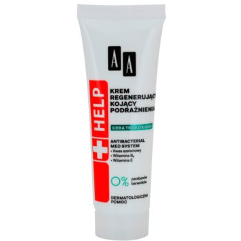 AA Cosmetics Help Acne Skin crema de noapte cu efect calmant efect regenerator imagine produs