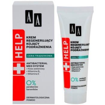 AA Cosmetics Help Acne Skin nyugtató éjszakai krém regeneráló hatással 1