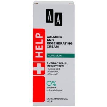 AA Cosmetics Help Acne Skin nyugtató éjszakai krém regeneráló hatással 2