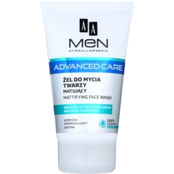 AA Cosmetics Men Advanced Care gel matifiant de curatare facial poza noua