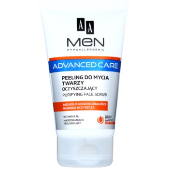AA Cosmetics Men Advanced Care gel exfoliant de curatare fata  150 ml