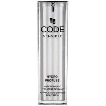 AA Cosmetics CODE Sensible Hydro Profuse masca hidratanta de noapte pentru piele sensibila   30 ml