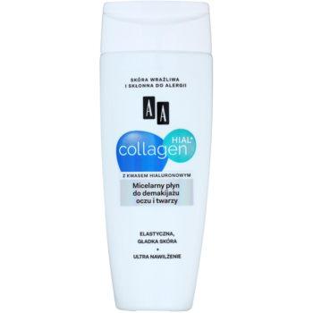 AA Cosmetics Collagen HIAL+ oczyszczający płyn micelarny do twarzy i okolic oczu