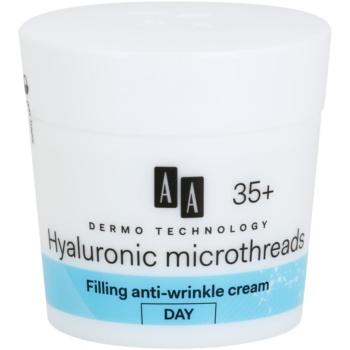 AA Cosmetics Dermo Technology Hyaluronic Microthreads  cremă de zi antirid cu efect de umplere 35+  50 ml