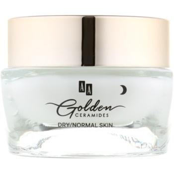 AA Cosmetics Golden Ceramides crema de noapte intensiva efect regenerator
