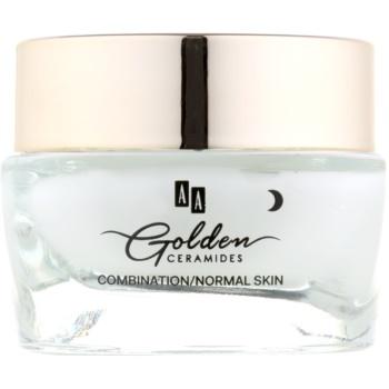 AA Cosmetics Golden Ceramides cremă de noapte cu efect de netezire intensă  50 ml