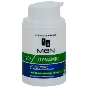AA Cosmetics Men Dymanic 20+ mattierendes und feuchtigkeitsspendendes Gel 1