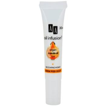 AA Cosmetics Oil Infusion2 Argan Marula 30+ crema contur pentru ochi cu efect de hidratare Koenzym Q10 15 ml