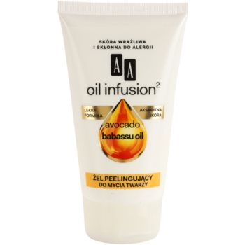 AA Cosmetics Oil Infusion2 Avocado Babassu gel exfoliant de curatare  150 ml