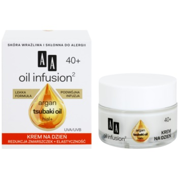 AA Cosmetics Oil Infusion2 Argan Tsubaki 40+ crema de zi pentru restabilirea fermitatii cu efect antirid 2