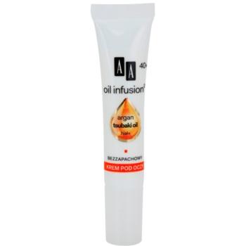 AA Cosmetics Oil Infusion2 Argan Tsubaki 40+ crema hranitoare de ochi pentru a reduce ridurile Hial+ 15 ml