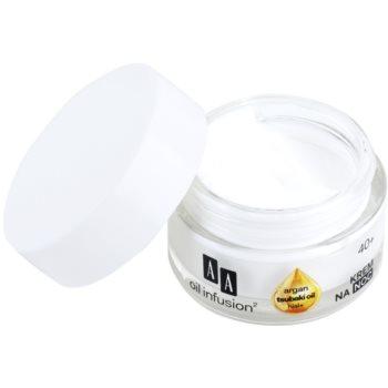 AA Cosmetics Oil Infusion2 Argan Tsubaki 40+ regenerujący krem na noc o działaniu przeciwzmarszczkowym 1