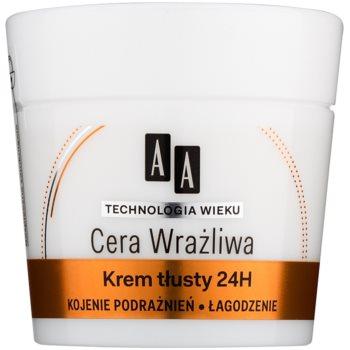AA Cosmetics Age Technology Sensitive Skin beruhigende und regenerierende Creme für normale und trockene Haut