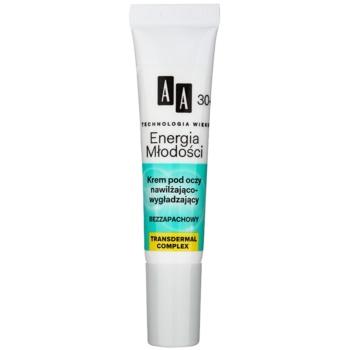 AA Cosmetics Age Technology Youthful Vitality crema de ochi pentru hidratare si matifiere 30+  15 ml