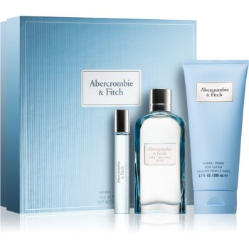 Abercrombie & Fitch First Instinct Blue parfémovaná voda 100 ml + parfémovaná voda 15 ml + tělové mléko 200 ml