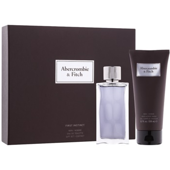 Abercrombie & Fitch First Instinct set cadou I.  Apa de Toaleta 100 ml + Gel de dus 200 ml