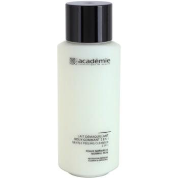 Academie Normal to Combination Skin lapte demachiant delicat cu efect exfoliant 2 in 1