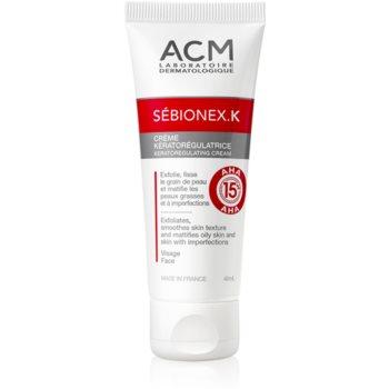 ACM Sébionex K crema matifiere protectoare pentru ten gras cu imperfectiuni Cu AHA Acizi imagine