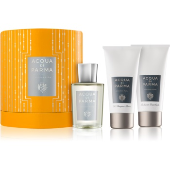 Acqua di Parma Colonia Colonia Pura set cadou I.  Eau de Cologne 100 ml + Gel de dus 75 ml + After Shave Balsam 75 ml