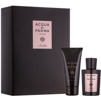 Acqua di Parma Ambra set cadou I.  Eau de Cologne 100 ml + Gel de dus 75 ml