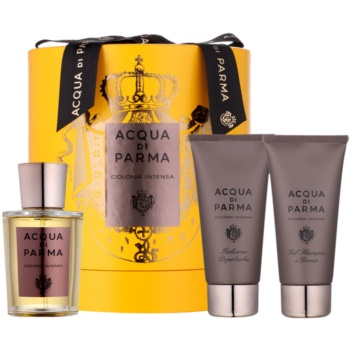 Acqua di Parma Colonia Colonia Intensa set cadou II.  Eau de Cologne 100 ml + After Shave Balsam 75 ml + Gel de dus 75 ml