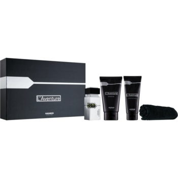 Al Haramain L'Aventure set cadou I.  Gel de dus 150 ml + After Shave Balsam 100 ml + Eau de Parfum 30 ml + prosop 1