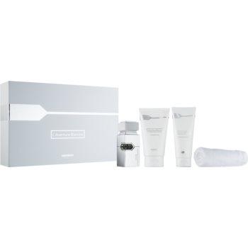 Al Haramain L'Aventure Blanche sprchový gel 150 ml + balzám po holení 100 ml + parfémovaná voda 30 ml + ručník 1 ks