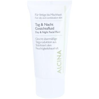 Alcina For Oily Skin denní a noční fluid pro regulaci mazotoku 50 ml