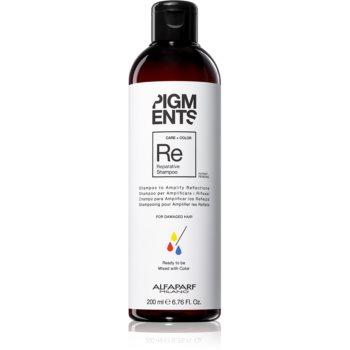 Alfaparf Milano Pigments șampon fortifiant pentru păr deteriorat pentru a evidentia culoarea parului poza noua