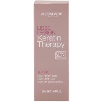 Alfaparf Milano Lisse Design Keratin Therapy ulei hranitor pentru toate tipurile de par 4