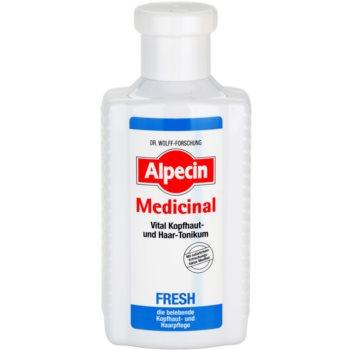 Fotografie Alpecin Medicinal Fresh osvěžující tonikum pro mastnou pokožku hlavy 200 ml