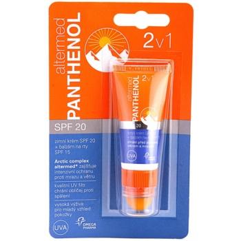 Altermed Panthenol Winter crema de iarna SPF 20 + balsam de buze SPF 15 2 in 1