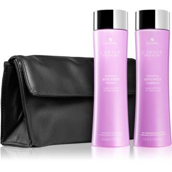 Alterna Caviar Anti-Aging Anti Frizz šampon pro nepoddajné a krepatějící se vlasy 250 ml + Anti Frizz kondicionér pro nepoddajné a krepatějící se vlasy 250 ml kosmetická sada