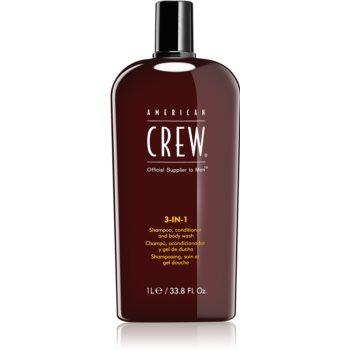 American Crew Hair & Body 3-IN-1 sampon, balsam si gel de dus 3in1 pentru barbati poza noua