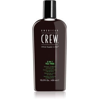 American Crew Hair & Body 3-IN-1 Tea Tree sampon, balsam si gel de dus 3in1 pentru barbati imagine produs